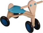 Afbeeldingen van Loopfiets berken hout licht blauw Van Dijk Toys vierwieler kinderfiets