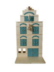 Afbeeldingen van Professioneel Speel pakhuis groen - speelhuis - grachtenpand met takel Van Dijk Toys