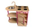Bild von Roze speel-kinderkeuken combi kleuter hout Van Dijk Toys