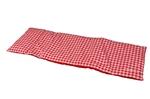 Afbeeldingen van Poppen-dekje -dekbed- slaapzak voor wieg, poppenbed en poppenwagen rood geruit 96x 32 cm Van DijkToys
