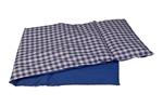 Afbeeldingen van Poppen-dekje -dekbed- slaapzak voor wieg, poppenbed en poppenwagen blauw geruit 96x 32 cm Van DijkToys