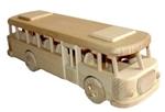 Afbeeldingen van Autobus retro 100% beukenhout 32 cm