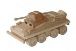 Afbeeldingen van Commandovoertuig kleine legertank 20 cm 100% beukenhout