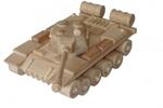 Afbeeldingen van Russische legertank 26 cm 100% beukenhout