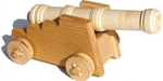 Afbeeldingen van Sterk kanon middeleeuwen 16 cm 100% beukenhout