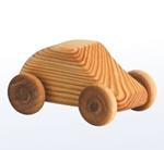 Bild von Kleine auto - Houten speelgoed - lengte: 7 cm - hoogte: 5 cm - breedte: 4 cm