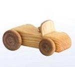 Afbeeldingen van Kleine cabriolet - Houten speelgoed - lengte: 10,5 cm - hoogte: 8 cm - breedte: 6 cm