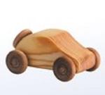 Bild von Kleine personenwagen - Houten speelgoed - lengte: 10 cm - hoogte: 8 cm - breedte: 6 cm