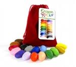 Bild von Kleurkrijt wasco Soja  Red Velvet 16 kleuren - Crayon Rocks