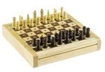 Afbeeldingen van Reis-pocketversie schaakspel  koning 21mm. 12x 12 cm