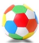 Afbeeldingen van Softbal mulikleuren diameter 15 cm