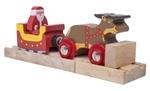 Bild von Kerstman-arreslee trein - Bigjigs