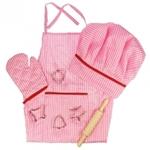 Afbeeldingen van Kokskleding-set roze Bigjigs