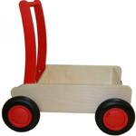 Picture of Luxe loopwagen- rode Blokkenduwwagen Hout met rechte rand  Van Dijk Toys