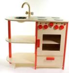 Bild von Rode speel-kinderkeuken combi kleuter hout Van Dijk Toys
