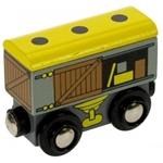 Afbeeldingen van Goederenwagon houten treinbaan Bigjigs
