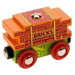 Afbeeldingen van Bakstenenwagon houten treinbaan Bigjigs