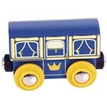 Image de Wagon koninklijk rijtuig houten treinbaan Bigjigs