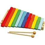 Afbeeldingen van Xylofoon hout gekleurd 12 toons Bigjigs