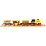 Afbeeldingen van Houten trein Groente en Fruit Bigjigs