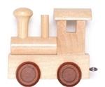 Bild von Lettertrein blank lokomotief