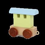 Afbeeldingen van Lettertrein wagon Alfabet gekleurd