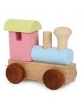 Bild von Lettertrein Alfabet lokomotief gekleurd
