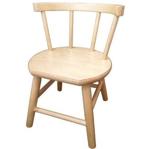 Image de Kinderstoel, blank zitvlak gebogen leuning,  beukenhout Van Dijk Toys
