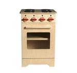 Afbeeldingen van Speel- kinderkeuken-Kleuter Fornuis blank hout 40x 40x 61 cm Van Dijk Toys