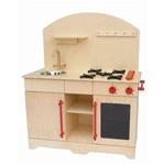 Afbeeldingen van Speel keukentje-Keukenblok hout kleuter Blank 77x 40 x 110 cm Van Dijk Toys