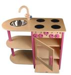 Bild von Roze speel-kinderkeuken combi peuter hout Van Dijk Toys