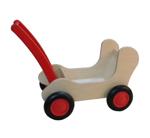 Afbeeldingen van Rode Combi Poppenwagen - Loopwagen-Blokkenduwwagen Van Dijk Toys