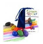 Afbeeldingen van Vetkrijt Soja Bleu Velvet 8 kleuren - Crayon Rocks