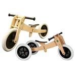 Afbeeldingen van Wishbonebike Original houten 3-in-1 Loopfiets incl. gratis zadelhoes