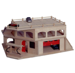 Afbeeldingen van Houten speelgoed autogarage 3 verdiepingen (professioneel) Van Dijk Toys