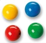 Afbeeldingen van 4 gekleurde knikkers voor knikkerbaan XL en XXL Fagus