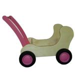 Afbeeldingen van Roze Combi Poppenwagen - Loopwagen-Blokkenduwwagen Van Dijk Toys
