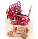 Bild von Poppenwagen riet met vrolijke bekleding