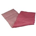 Afbeeldingen van Poppen-dekje -dekbed- slaapzak voor wieg, poppenbed en poppenwagen roze geruit 96x 32 cm Van DijkToys
