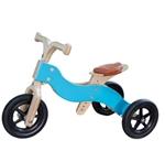 Picture of Dijktrike 2in1 loopfiets drie- en tweewieler kinderfiets hout blauw 1-4 jaar Van Dijk Toys