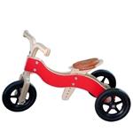 Picture of Dijktrike 2in1 loopfiets drie- en tweewieler hout rood 1-4 jaar Van Dijk Toys
