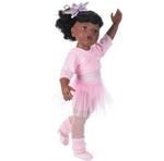 Afbeeldingen van Gotz pop Hannah op ballet Afro/Amerikaans - 50cm