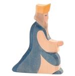 Afbeeldingen van Koning blauw 13 cm Ostheimer