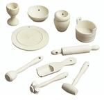 Afbeeldingen van Poppenhuissetje  Houten keuken gereedschap 2,4-4,3CM / 2 ST [008021/0511]
