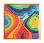 Afbeeldingen van Puzzel bouwblokken 4 elementen 22,5 cm 23-delig Grimm's