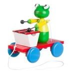 Afbeeldingen van Trekfiguur xylofoon kikker groen