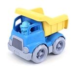 Afbeeldingen van Kiepauto geel/blauw 14cm - recycled plastic - Greentoys
