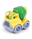 Afbeeldingen van Mixer betonwagen groen/geel 14cm - recycled plastic - Greentoys