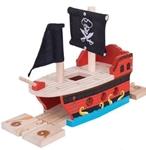 Afbeeldingen van Piratenschip houten treinbaan Bigjigs