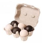 Afbeeldingen van Grimm's houten ballen 6 stuks zwart en wit